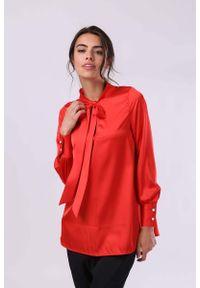Czerwona bluzka z długim rękawem Nommo elegancka