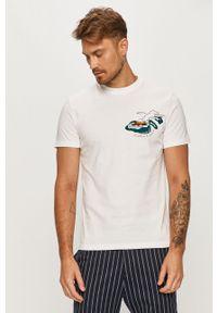 Biały t-shirt Scotch & Soda casualowy, na co dzień