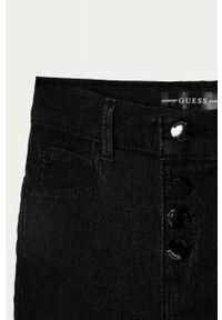 Czarne jeansy Guess z podwyższonym stanem