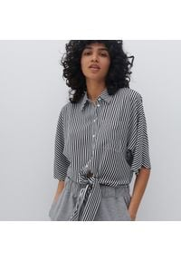 Reserved - Koszula z EcoVero™ - Czarny. Kolor: czarny
