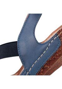 Niebieskie sandały Waldi casualowe, z aplikacjami, na co dzień