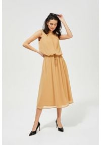MOODO - Elegancka sukienka w stylu boho. Materiał: guma, poliester. Wzór: gładki, nadruk. Styl: boho, elegancki