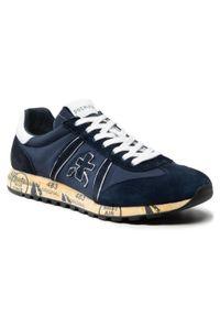 Premiata - Sneakersy PREMIATA - Lucy 5151 Dark Navy/Blue/Black/White. Kolor: niebieski. Materiał: materiał, zamsz, skóra. Szerokość cholewki: normalna