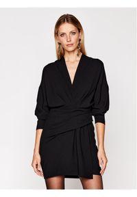 Czarna sukienka koktajlowa IRO wizytowa