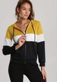 Renee - Żółta Bluza Halimere. Typ kołnierza: kaptur. Kolor: żółty. Materiał: dresówka, dzianina