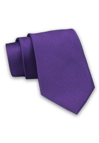 Fioletowy krawat Angelo di Monti w prążki, elegancki