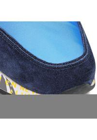 Premiata - Sneakersy PREMIATA - Lander 5198 Navy/Blue. Kolor: niebieski. Materiał: materiał, zamsz, skóra. Szerokość cholewki: normalna