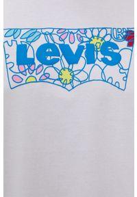 Levi's® - Levi's - T-shirt. Okazja: na spotkanie biznesowe. Kolor: biały. Wzór: nadruk. Styl: biznesowy