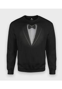 MegaKoszulki - Bluza klasyczna Garnitur - muszka. Styl: klasyczny