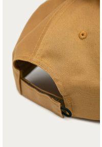 Beżowa czapka z daszkiem columbia w jednolite wzory