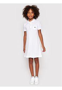 Lacoste Sukienka codzienna EJ2816 Biały Regular Fit. Okazja: na co dzień. Kolor: biały. Typ sukienki: proste. Styl: casual #6