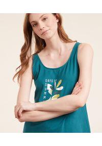 Enoa Podkoszulek Z Napisem 'Days Of Summer' - M - Zielony - Etam. Kolor: zielony. Materiał: bawełna, materiał. Wzór: napisy