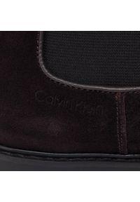 Brązowe buty zimowe Calvin Klein z cholewką