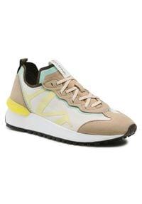 Marc O'Polo - Sneakersy MARC O'POLO - 102 16343502 605 Sand 715. Okazja: na co dzień, na spacer. Kolor: beżowy. Materiał: skóra ekologiczna, materiał. Szerokość cholewki: normalna. Sezon: lato. Styl: casual