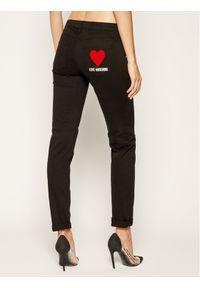 Czarne jeansy slim Love Moschino