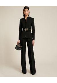 Luisa Spagnoli - LUISA SPAGNOLI - Spodnie w kant Osten. Kolor: czarny. Materiał: wiskoza. Styl: klasyczny