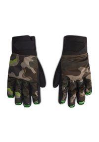 Zielone rękawiczki sportowe Volcom snowboardowe