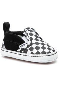 Vans - Tenisówki VANS - Slip-On V Crib VN0A2XSLFB71 Black/Truewhite. Zapięcie: bez zapięcia. Kolor: czarny, biały, wielokolorowy. Materiał: skóra, materiał, zamsz. Szerokość cholewki: normalna