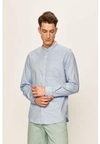 Niebieska koszula s.Oliver z długim rękawem, długa, casualowa