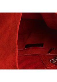 Czerwona torebka klasyczna Creole zamszowa, klasyczna