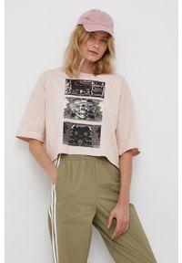 Volcom - T-shirt bawełniany x Animoscillator. Kolor: różowy. Materiał: bawełna. Wzór: nadruk