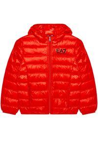 EA7 Emporio Armani Kurtka puchowa 8NBB34 BN29Z 1485 Czerwony Regular Fit. Kolor: czerwony. Materiał: puch
