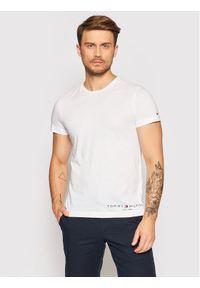 TOMMY HILFIGER - Tommy Hilfiger T-Shirt Logo MW0MW18734 Biały Regular Fit. Kolor: biały