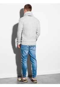 Szary sweter Ombre Clothing ze stójką