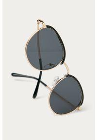 Czarne okulary przeciwsłoneczne Answear Lab gładkie #3