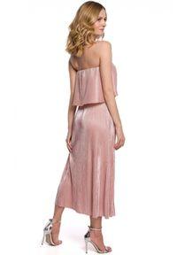 Sukienka z odkrytymi ramionami, z dekoltem typu hiszpanka, maxi
