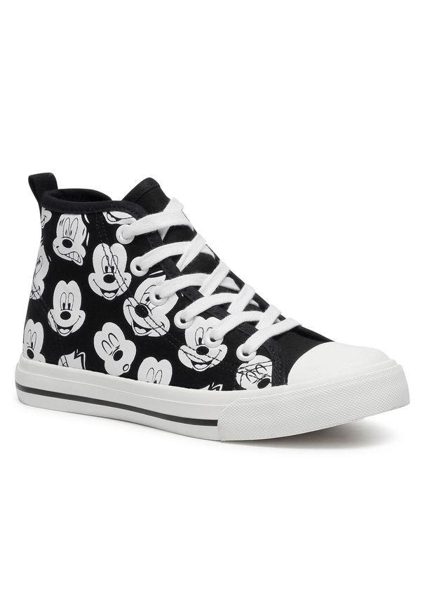 Czarne kozaki Mickey&Friends młodzieżowe, z cholewką