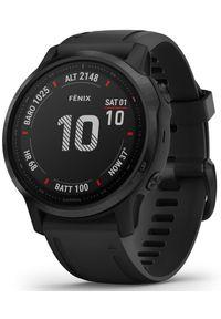 GARMIN - Garmin zegarek Fenix 6S PRO, Black, Black band. Rodzaj zegarka: smartwatch. Kolor: czarny. Styl: militarny