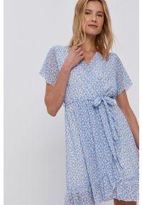 Haily's - Sukienka. Okazja: na co dzień. Kolor: niebieski. Długość rękawa: krótki rękaw. Typ sukienki: proste. Styl: casual