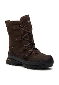 Brązowe buty trekkingowe MEINDL trekkingowe, Gore-Tex, z aplikacjami