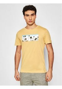 Jack & Jones - Jack&Jones T-Shirt Azure 12189032 Żółty Regular Fit. Kolor: żółty