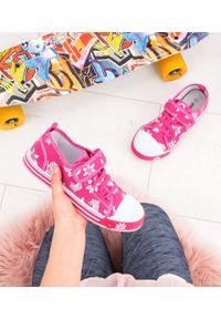 UNDERLINE - Trampki dziecięce Underline 8C181104 Różowe. Zapięcie: rzepy. Kolor: różowy. Materiał: tkanina, skóra, guma