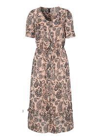 Soyaconcept Wzorzysta sukienka żakardowa Kira jasnoróżowy we wzory female różowy/ze wzorem L (42). Kolor: różowy. Materiał: żakard