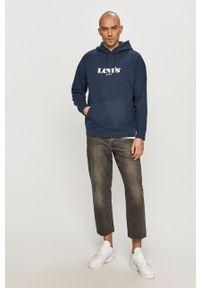 Levi's® - Levi's - Bluza bawełniana. Okazja: na spotkanie biznesowe. Kolor: niebieski. Materiał: bawełna. Styl: biznesowy