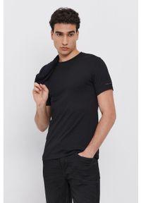 Karl Lagerfeld - T-shirt bawełniany (2-pack). Okazja: na co dzień. Kolor: czarny. Materiał: bawełna. Wzór: gładki. Styl: casual