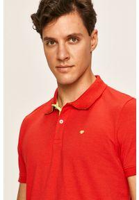 Czerwona koszulka polo Tom Tailor Denim krótka, na co dzień