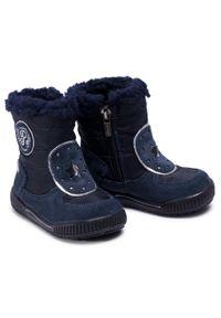 Niebieskie buty zimowe Primigi z cholewką