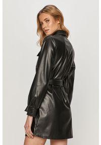 Czarna sukienka only na co dzień, z długim rękawem, casualowa, mini