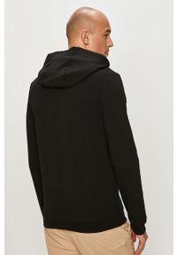 Czarna bluza rozpinana Guess casualowa, z kapturem, na co dzień