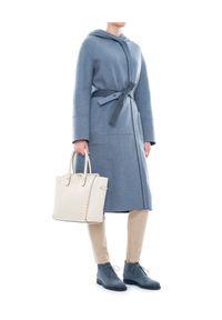 LORO PIANA - Płaszcz. Kolor: niebieski. Materiał: tkanina, kaszmir. Styl: elegancki