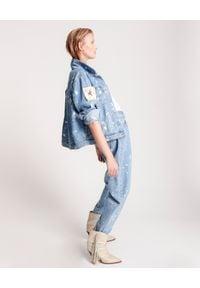 ONETEASPOON - Jeansy tie-dye Crusardes. Stan: obniżony. Kolor: niebieski. Wzór: aplikacja