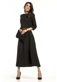 Czarna bluzka Tessita elegancka, krótka