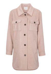 Cellbes Modna kurtka koszulowa z kołnierzem pudrowy róż female różowy 42/44. Kolor: różowy