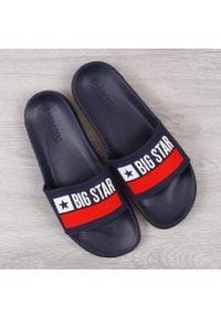 Big-Star - Klapki męskie gumowe plażowe granatowe Big Star GG174937. Okazja: na plażę. Kolor: niebieski. Materiał: tworzywo sztuczne, guma
