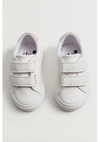 Białe buty sportowe Mango Kids z cholewką, na rzepy