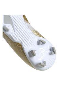 Adidas - Buty piłkarskie korki dla dzieci adidas X Ghosted 3 EG8210. Zapięcie: pasek. Szerokość cholewki: normalna. Wzór: aplikacja. Sport: piłka nożna